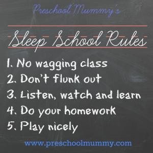 sleep school rules