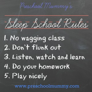 sleep school rules